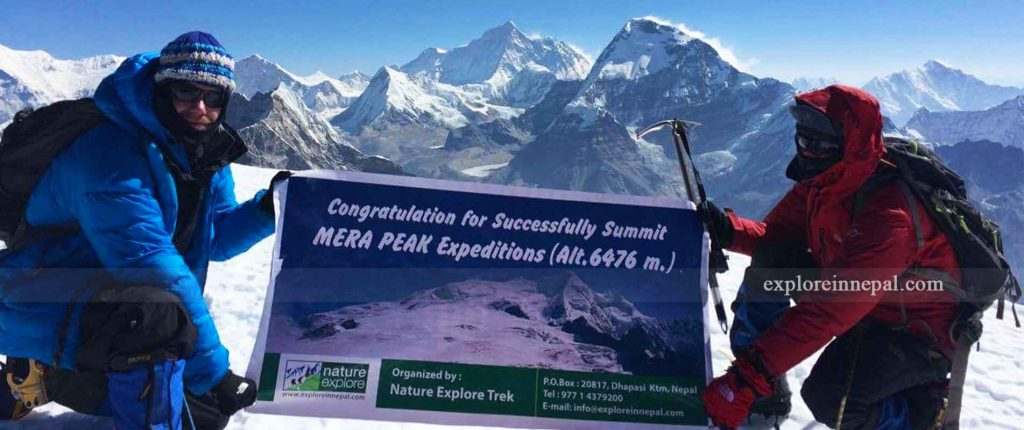 mera peak summit photo