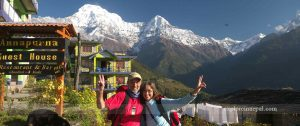 Ghandruk villages and Annapurna mountains
