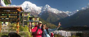 Ghandruk villages and Annapurna mountains