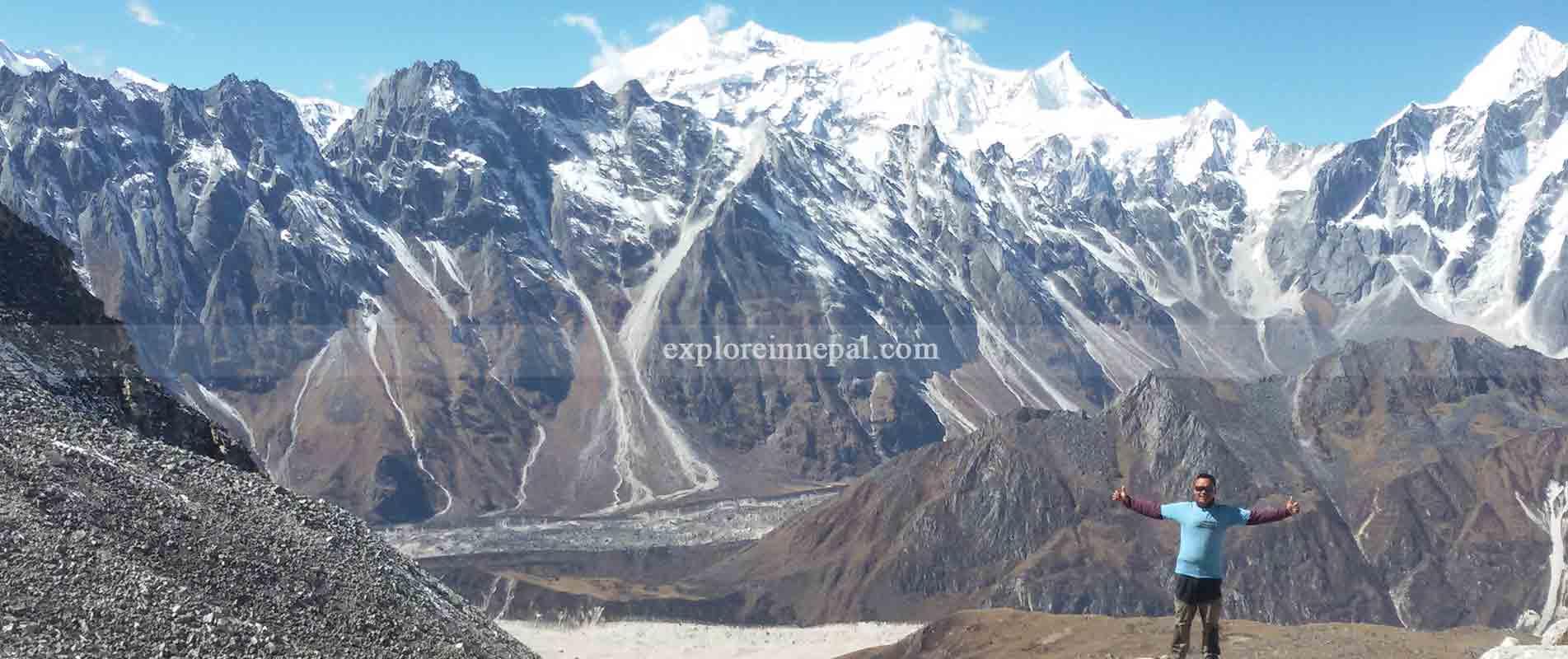 Manaslu view from Samdu gaun