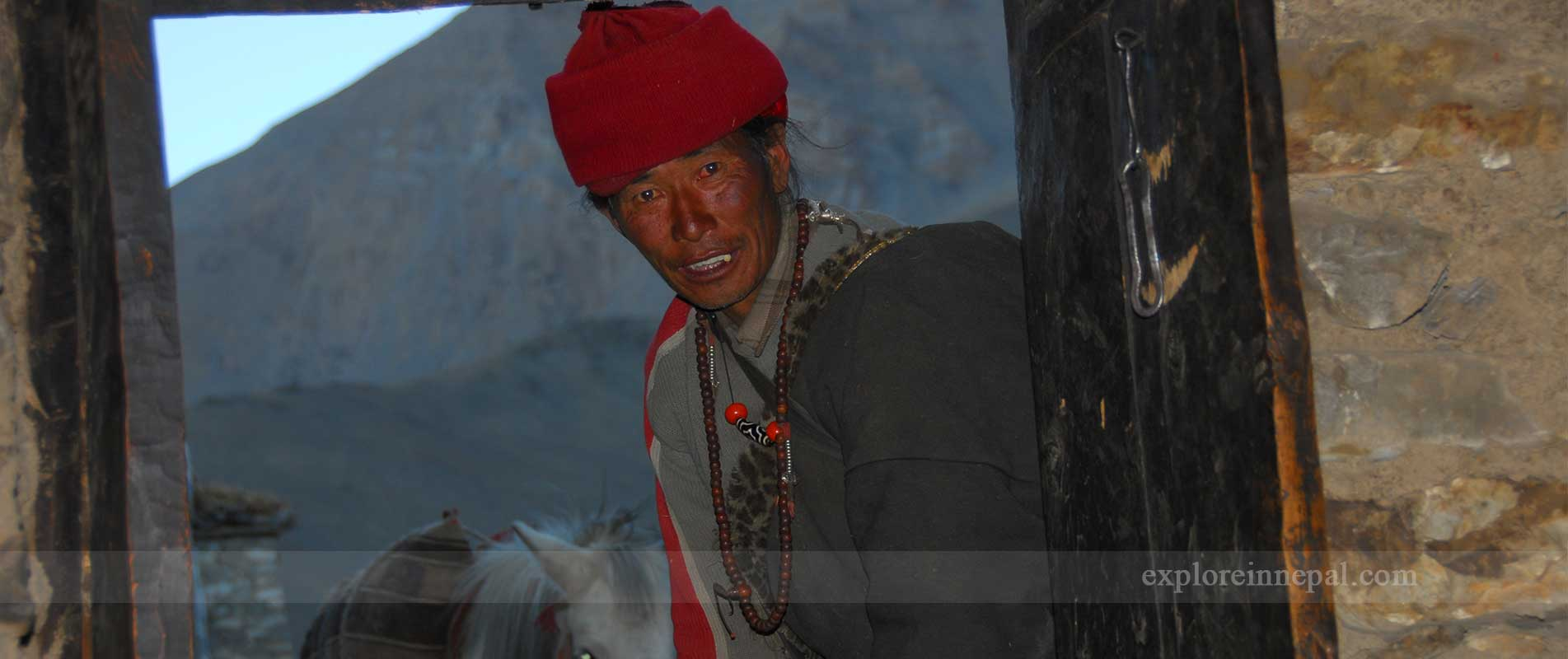 Old sherpa people in Dolpa