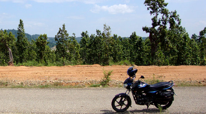 one the way to Pokhara in Dumbre Nepal