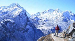 Langtang mountains ranges. view from Gosaikunda lake