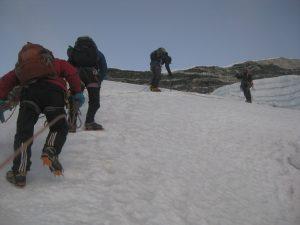 Chulu east far climbing