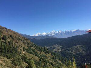 mount Everest range view from Jumbsi