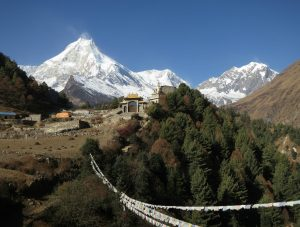 mount manaslu view from lho.