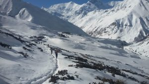 one the way to Thorong la pass