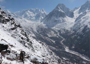 mount Kanchenjunga and mountains peaks