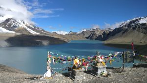 Tilicho lake in an Annapurna region