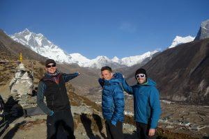 group joining trekking in nepal.