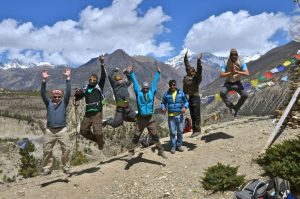 group joining trekking in Nepal